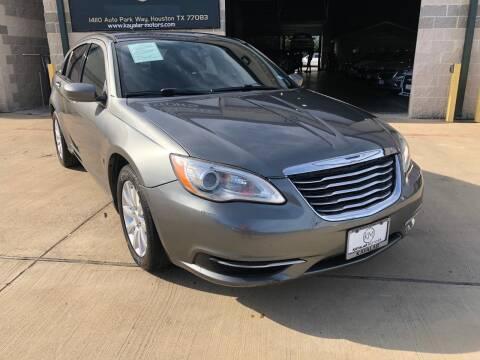 2013 Chrysler 200 for sale at KAYALAR MOTORS Garage in Houston TX