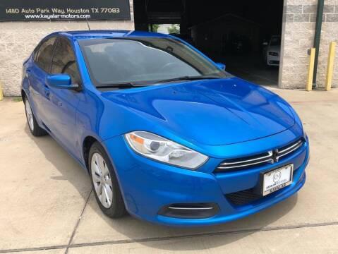2016 Dodge Dart for sale at KAYALAR MOTORS Garage in Houston TX
