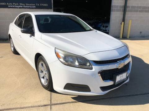 2014 Chevrolet Malibu for sale at KAYALAR MOTORS Garage in Houston TX