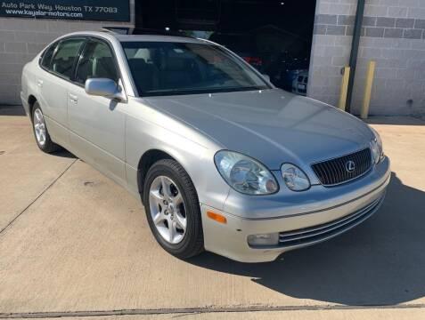 2004 Lexus GS 300 for sale at KAYALAR MOTORS Garage in Houston TX