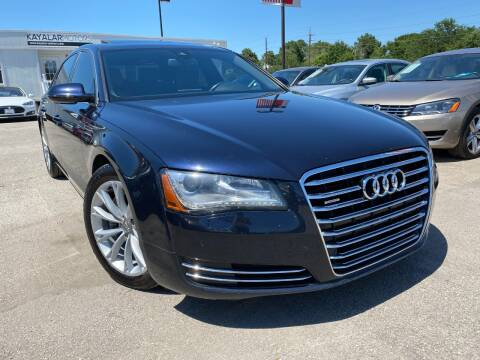 2013 Audi A8 L for sale at KAYALAR MOTORS in Houston TX