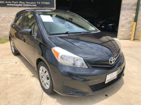 2013 Toyota Yaris for sale at KAYALAR MOTORS Garage in Houston TX