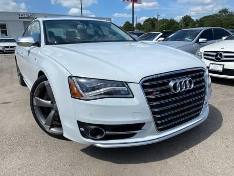 2013 Audi S8 for sale at KAYALAR MOTORS in Houston TX