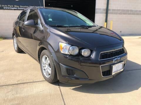 2015 Chevrolet Sonic for sale at KAYALAR MOTORS Garage in Houston TX