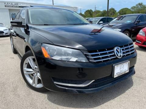 2015 Volkswagen Passat for sale at KAYALAR MOTORS in Houston TX