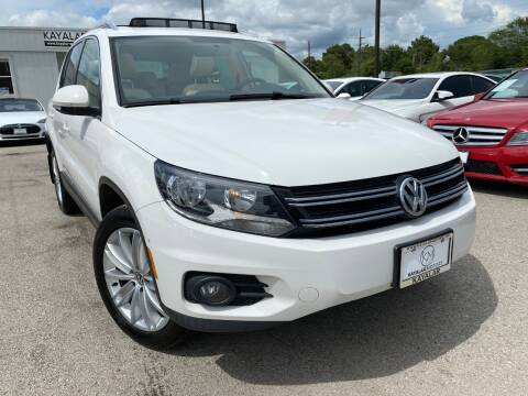 2013 Volkswagen Tiguan for sale at KAYALAR MOTORS in Houston TX