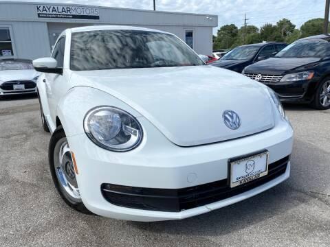 2015 Volkswagen Beetle for sale at KAYALAR MOTORS in Houston TX