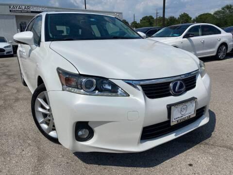 2012 Lexus CT 200h for sale at KAYALAR MOTORS in Houston TX