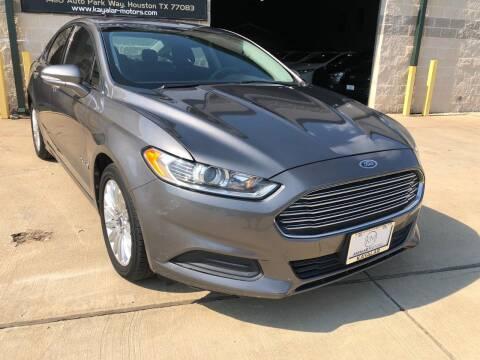 2013 Ford Fusion Hybrid for sale at KAYALAR MOTORS Garage in Houston TX