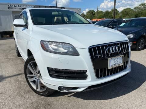 2014 Audi Q7 for sale at KAYALAR MOTORS in Houston TX