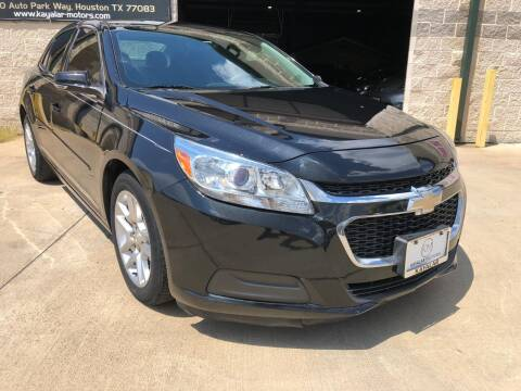 2015 Chevrolet Malibu for sale at KAYALAR MOTORS in Houston TX