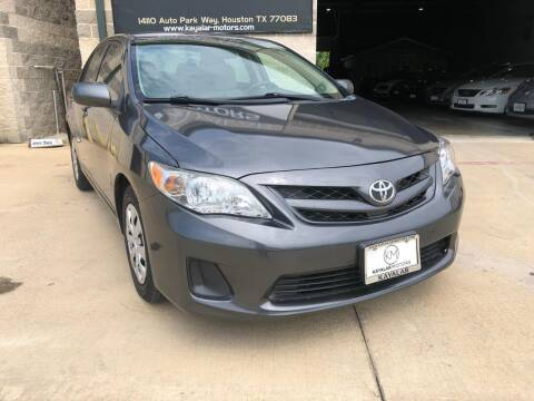 2013 Toyota Corolla for sale at KAYALAR MOTORS Garage in Houston TX