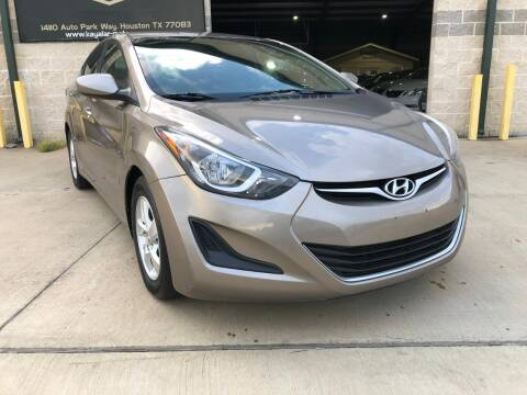 2014 Hyundai Elantra for sale at KAYALAR MOTORS in Houston TX
