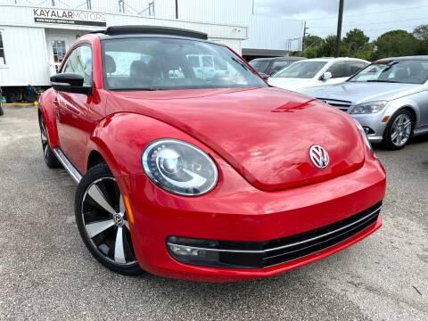 2013 Volkswagen Beetle for sale at KAYALAR MOTORS in Houston TX