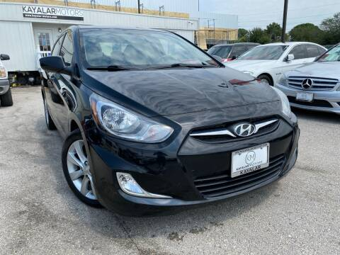 2013 Hyundai Accent for sale at KAYALAR MOTORS in Houston TX