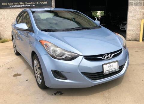 2012 Hyundai Elantra for sale at KAYALAR MOTORS Garage in Houston TX
