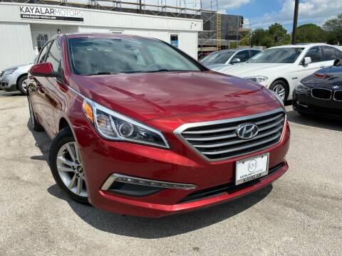 2015 Hyundai Sonata for sale at KAYALAR MOTORS in Houston TX