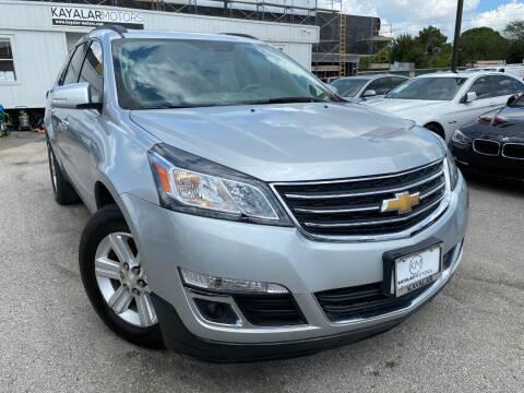 2013 Chevrolet Traverse for sale at KAYALAR MOTORS Garage in Houston TX