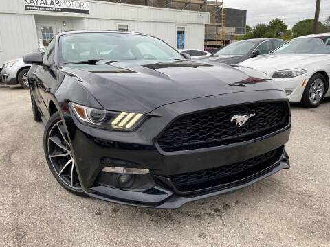 2017 Ford Mustang for sale at KAYALAR MOTORS in Houston TX