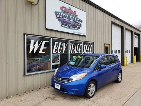 2014 Nissan Versa Note S for sale at C&L Auto Sales in Vermillion SD