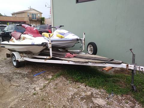 1999 GS SEADOO & YAMAHA WAVERUNNER CARAVAN DOUBLE TRAILER for sale at CARS PLUS MORE LLC in Cowan TN