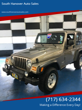 2004 Jeep Wrangler for sale at South Hanover Auto Sales in Hanover PA