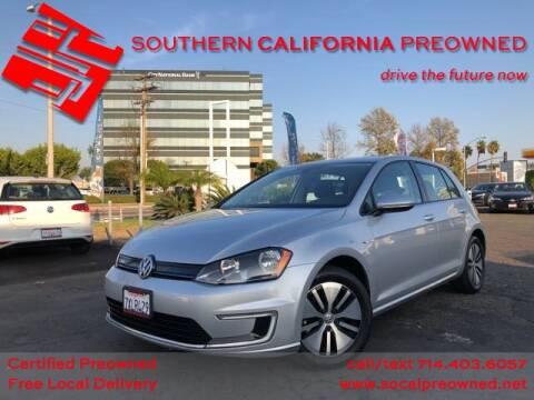 2016 Volkswagen e-Golf for sale in Anaheim, CA