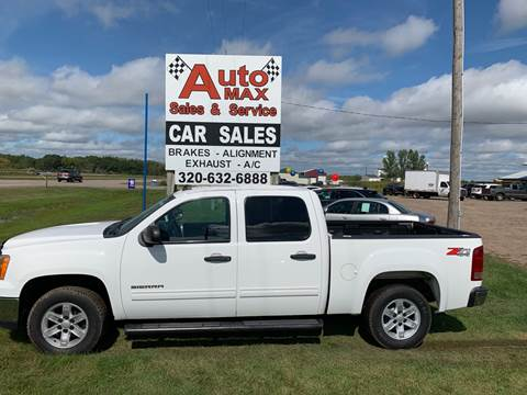 2010 GMC Sierra 1500 SLE for sale at Auto Max Sales & Service in Little Falls MN