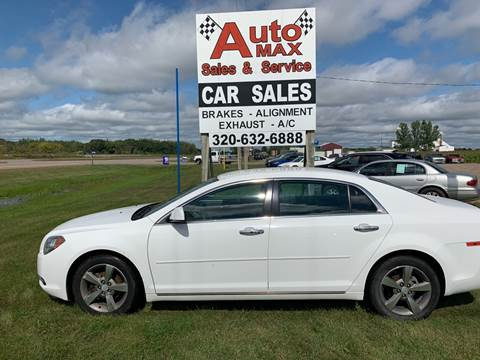 2012 Chevrolet Malibu LT for sale at Auto Max Sales & Service in Little Falls MN