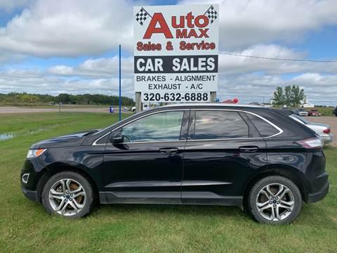 2016 Ford Edge Titanium for sale at Auto Max Sales & Service in Little Falls MN