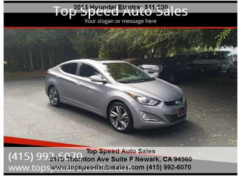 2014 Hyundai Elantra for sale at Top Speed Auto Sales in Fremont CA