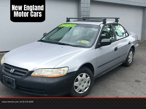 2001 Honda Accord for sale at New England Motor Cars in Springfield MA