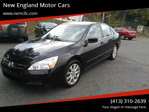 2007 Honda Accord for sale at New England Motor Cars in Springfield MA