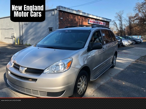 2004 Toyota Sienna for sale at New England Motor Cars in Springfield MA