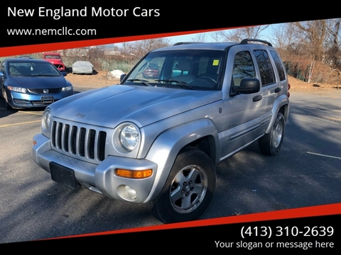 2004 Jeep Liberty for sale at New England Motor Cars in Springfield MA