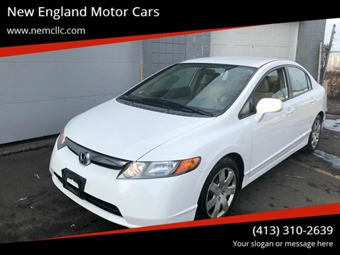 2008 Honda Civic for sale at New England Motor Cars in Springfield MA