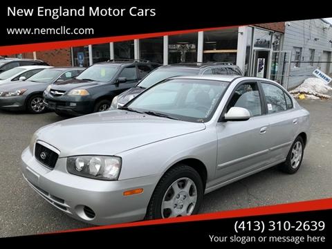 2002 Hyundai Elantra for sale at New England Motor Cars in Springfield MA