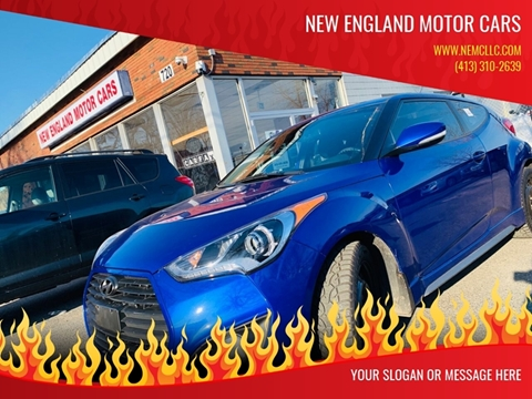 2013 Hyundai Veloster Turbo for sale at New England Motor Cars in Springfield MA