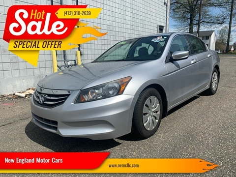 2012 Honda Accord for sale at New England Motor Cars in Springfield MA