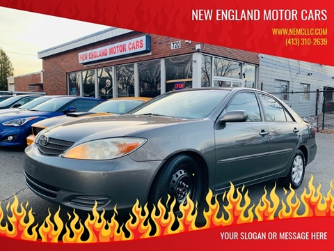 2002 Toyota Camry for sale at New England Motor Cars in Springfield MA