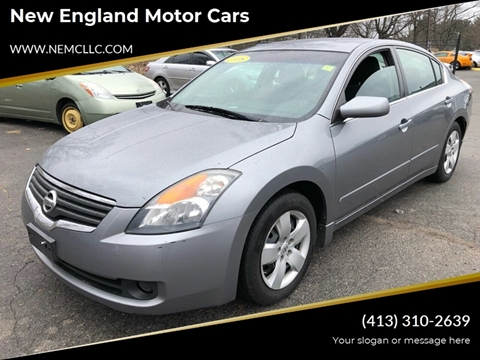 2008 Nissan Altima for sale at New England Motor Cars in Springfield MA