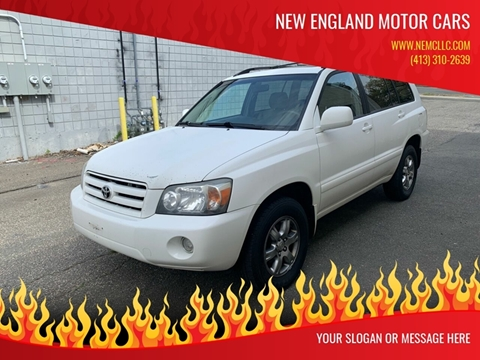 2004 Toyota Highlander for sale at New England Motor Cars in Springfield MA