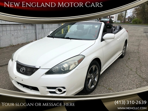 2007 Toyota Camry Solara for sale at New England Motor Cars in Springfield MA