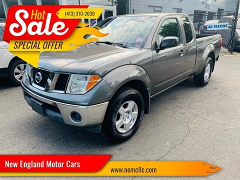 2008 Nissan Frontier for sale at New England Motor Cars in Springfield MA