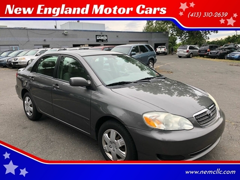 2007 Toyota Corolla for sale at New England Motor Cars in Springfield MA