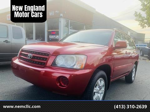 2001 Toyota Highlander for sale at New England Motor Cars in Springfield MA