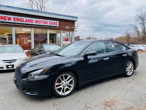 2009 Nissan Maxima for sale at New England Motor Cars in Springfield MA