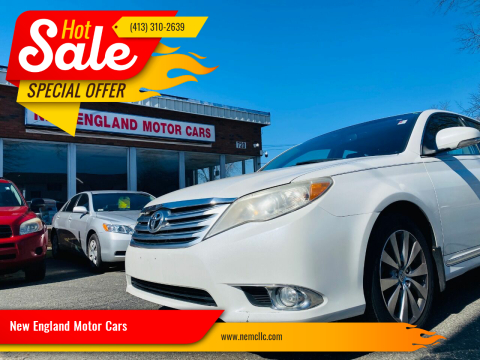 2011 Toyota Avalon for sale at New England Motor Cars in Springfield MA