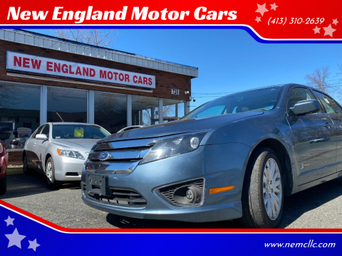 2012 Ford Fusion Hybrid for sale at New England Motor Cars in Springfield MA