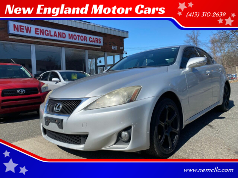 2011 Lexus IS 250 for sale at New England Motor Cars in Springfield MA
